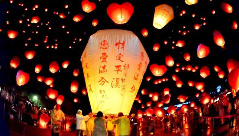 Đến Đài Loan ghé phố cổ Thập Phần trải nghiệm thả đèn trời lãng mạn